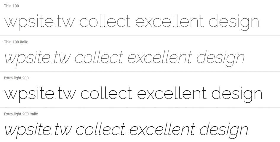 Raleway Fonts