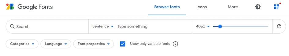 Google Variable fonts
